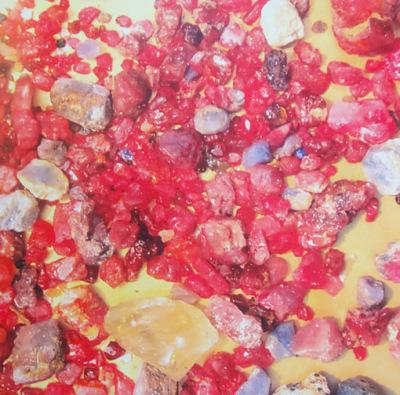 Corundum with various colors