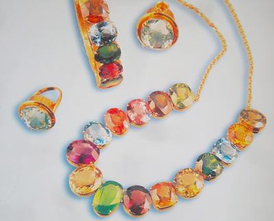 Semi-precious stones from the same mine