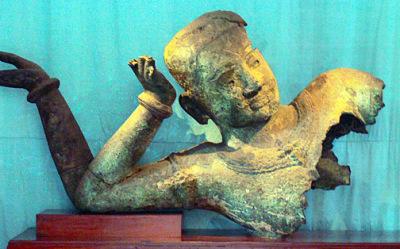 Khmer Buddha Bronze Statue