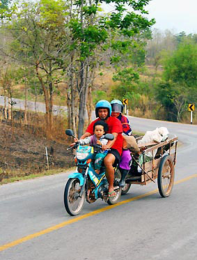Loei province on the road Thailand