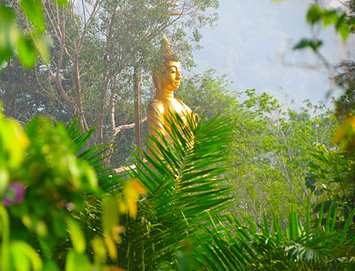 Buddha is often part of southeast Asia travel photos