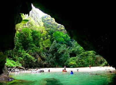 Morakot Cave Beach Trang Thailand