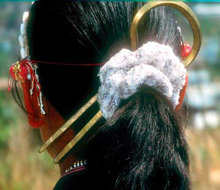 Myanmar hair styling