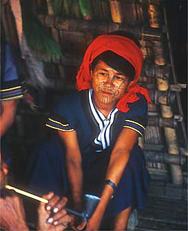 Myanmar Tribal Fashion Tattoo