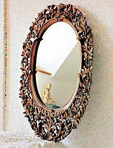 traditional teak mirror frame