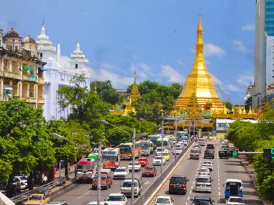 Yangon City Center Walk