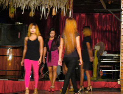 Club girls in Yangon Chinatown
