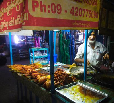 yangon street food dinner