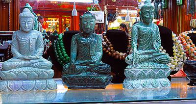 Beautiful Jade Buddha statues
