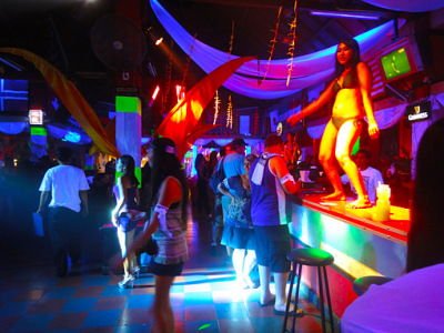 Bali nightlife at Legian Strip