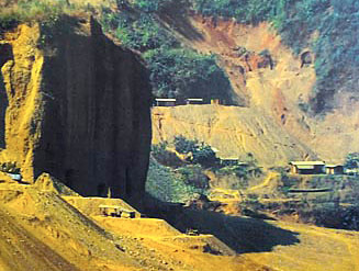open pit jade mining in Myanmar
