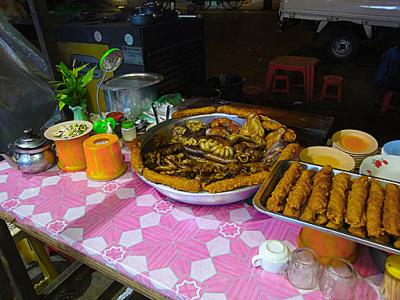 strange Myanmar dinner