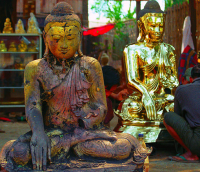 Creating a Brass Buddha Statue in Mandalay Myanmar