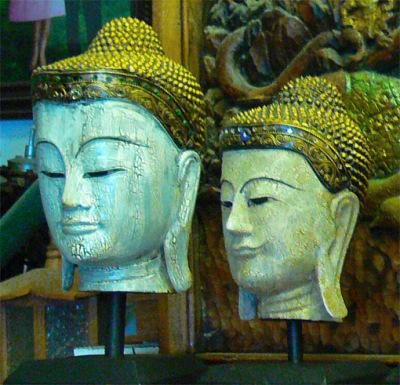 Buddha head northern Thailand style