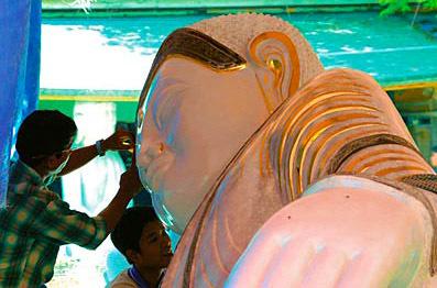 Creating a Marble Buddha in Mandalay