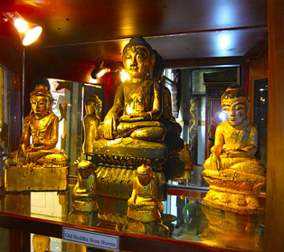Old Buddha Statues in a Phnom Penh Antique Shop