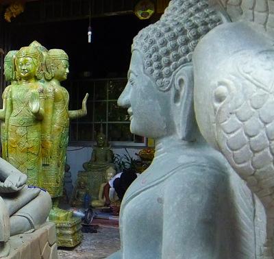 Laughing Buddha Cambodian Style