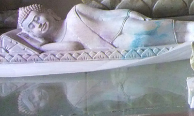 Sleeping Stone Buddha in Cambodia