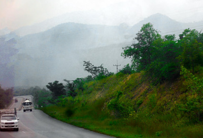 Towards the Myanmar Border west of Mae Sot