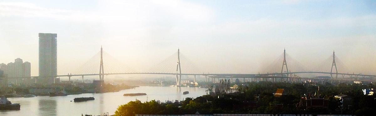 Chao Phraya River and Mega Bridge