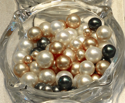 multicolored south sea pearls from Myanmar