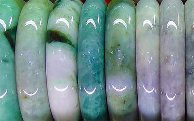 natural Burmese green jade