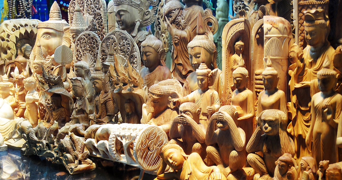 sandal wood art carvings