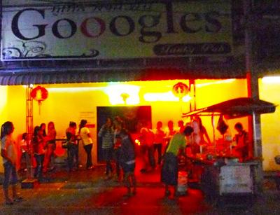 Google go-go bar in Thailand