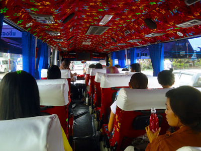 In the south Thailand bus