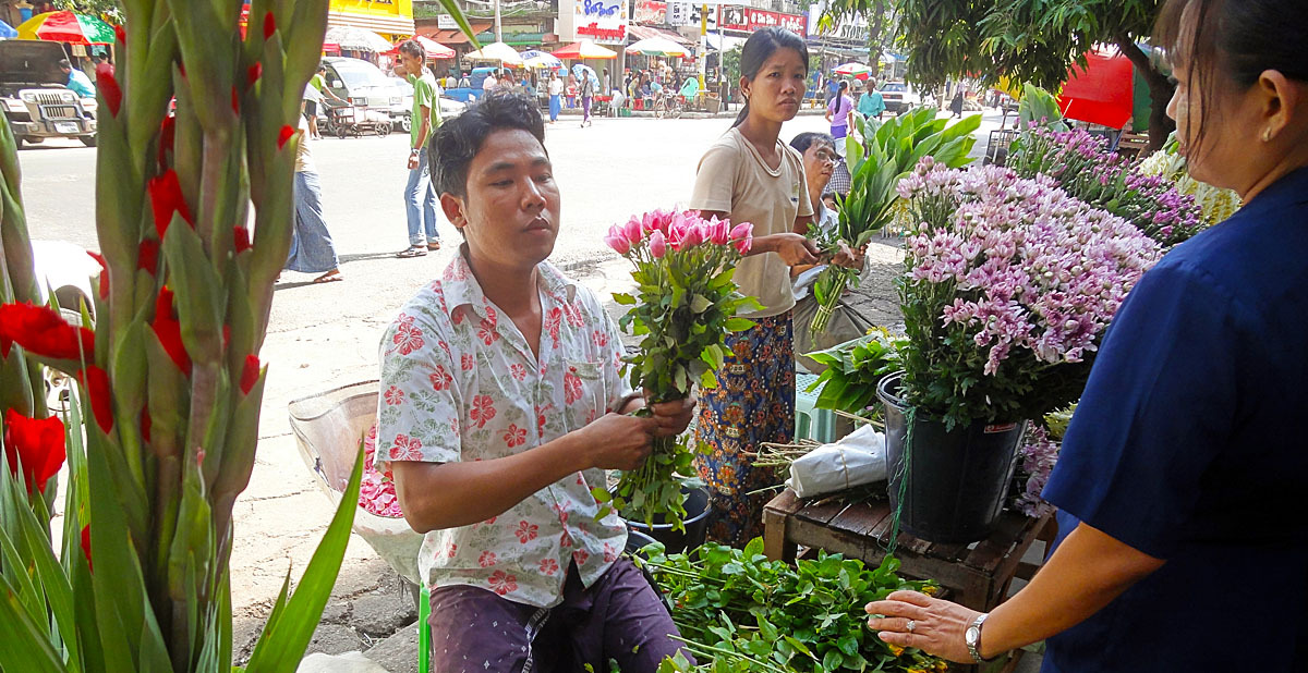 Yangon flower shop