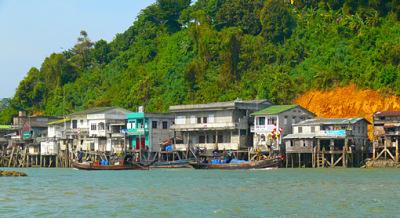Kawthaung Andaman seafront