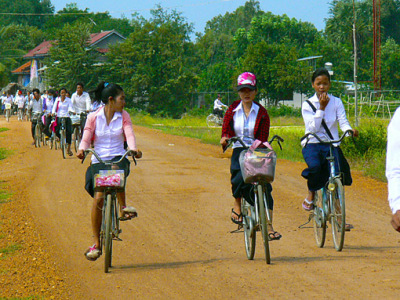 Cambodian biking