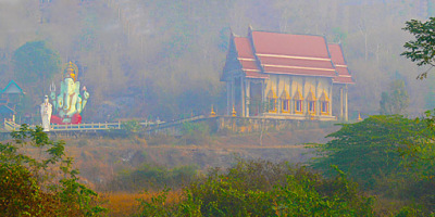 Temple at the road in Kanchanaburi