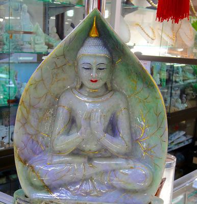 Jade Buddha white sitting