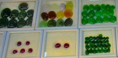 jadeite jade cabochons with various color