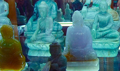 Beautiful Jadeite Jade Buddha Sculptures