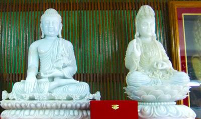 White Myanmar Jade Buddha