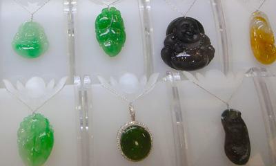 Myanmar Jadeite Jade Pendants green black
