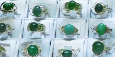 jadeite silver rings