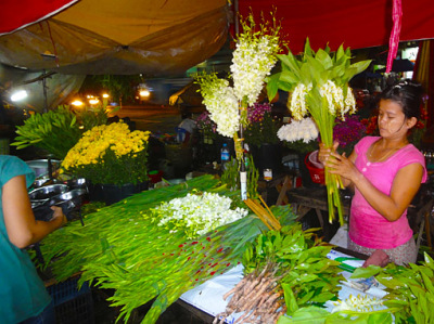 Yangon City flower shop