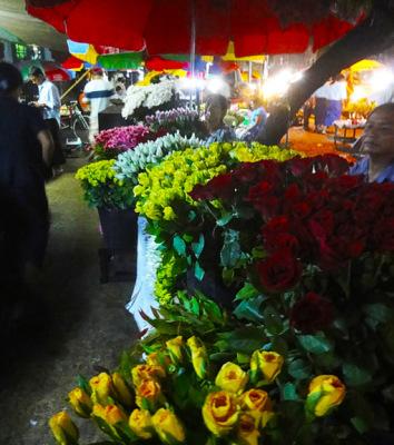 Yangon Chinatown flowers for sale