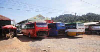 Bus travel in Cambodia