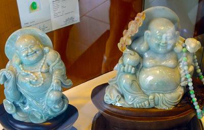Jadeite laughing Buddha Statues