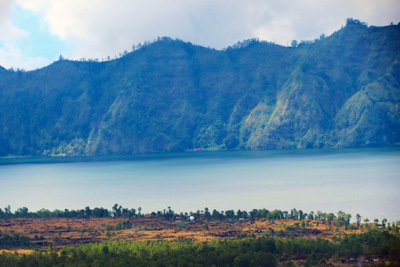part of lake Batur