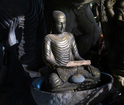 a Bali style sitting Buddha
