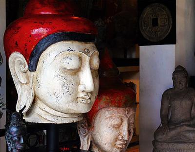 Chinese inspired Buddha Head