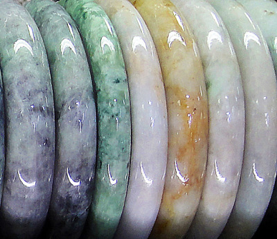Myanmar jade colors