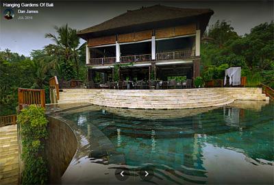 The hanging garden villas of Bali