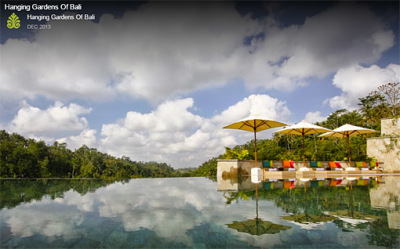 The hanging garden villas of Bali swimming pool