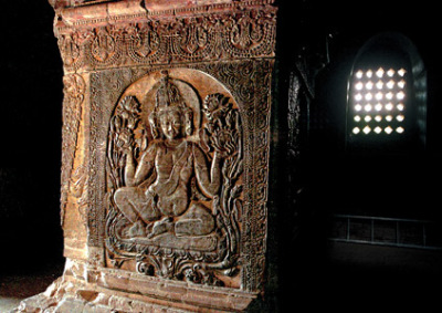 Buddhist shrine interior Bagan